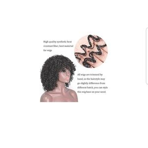 boutique Accessories - Nwt 14in synthetic fiber wig.